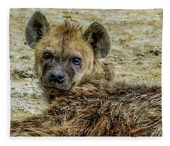 Hyena In The Serengeti Fleece Blanket