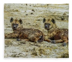 Hyenas In The Serengeti Fleece Blanket