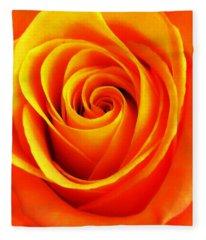 Hypnotic Orange Fleece Blanket