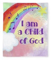 I Am A Child Of God 2 Fleece Blanket