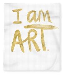 I Am Art Gold - Art By Linda Woods Fleece Blanket
