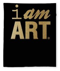 I Am Art- Gold Fleece Blanket
