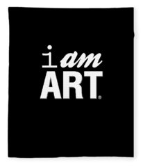 I Am Art- Shirt Fleece Blanket
