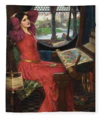 I Am Half Sick Of Shadows Said The Lady Of Shalott Fleece Blanket
