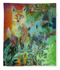 I Am The Forest Path Fleece Blanket