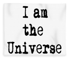 I Am The Universe Quote Prints, All Is One, Art Print Posters, Crown Chakra Fleece Blanket
