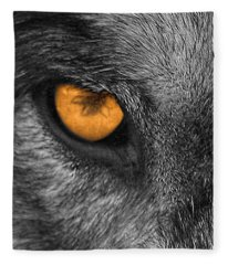 I Am Wolf Fleece Blanket