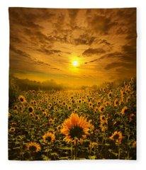 I Believe In New Beginnings Fleece Blanket