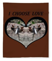 I Chose Love With Dragonflies On A Rock Fleece Blanket