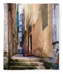 I Have Seen Your Trolley, Somewhere In Venice Fleece Blanket