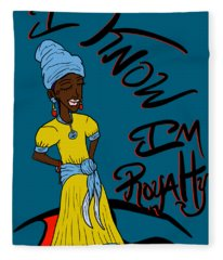 I Know Im Royalty Girl Fleece Blanket