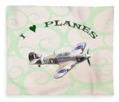 I Love Planes - Hurricane Fleece Blanket