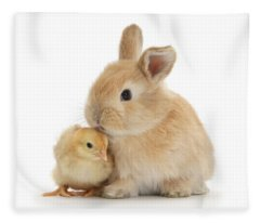 I Love To Kiss The Chicks Fleece Blanket