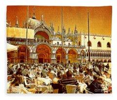 I Love Venice Fleece Blanket