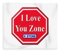 I Love You Zone Fleece Blanket