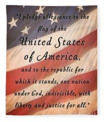 I Pledge Fleece Blanket