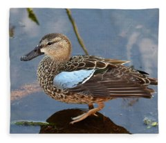 I Really Am A Green Winged Teal Fleece Blanket