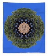 I Will Survive Tree Kaleidoscope Fleece Blanket