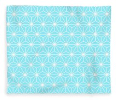 Ice Blue Geometric Flowers And Florals Isosceles Triangle  Fleece Blanket