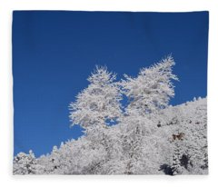 Ice Crystals Ute Pass Cos Co Fleece Blanket