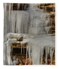 Ice Flow Fleece Blanket