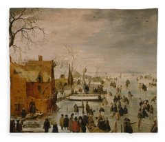 Ice Landscape Fleece Blanket