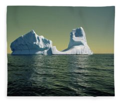 Iceberg In The Labrador Sea Fleece Blanket