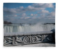 iced fencing - Niagara Fleece Blanket