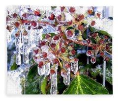 Iced Ivy Fleece Blanket