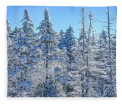 Iced Trees Monongahela National Forest Fleece Blanket