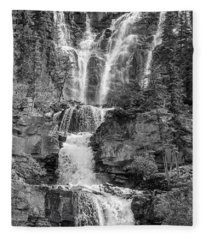 Icefields Waterfall Fleece Blanket