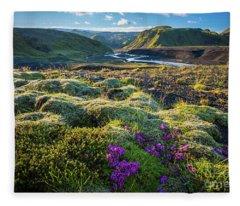 Iceland Moss Fleece Blanket