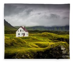 Iceland Scene Fleece Blanket