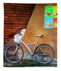 Iceland Soup Bicycle Fleece Blanket