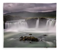 Iceland Waterfall Fleece Blanket