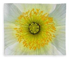 Iceland White Poppy Fleece Blanket