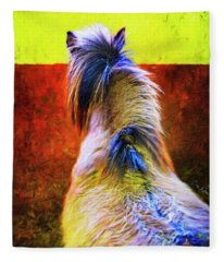 Icelandic Horse In Hester-stables 2  Fleece Blanket