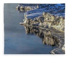 Icey Reflection Fleece Blanket