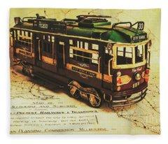 Icon Melbourne Tram Art Fleece Blanket