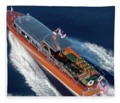 Iconic Thunderbird Yacht Fleece Blanket