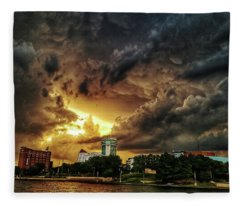 Ict Storm - From Smrt-phn Fleece Blanket