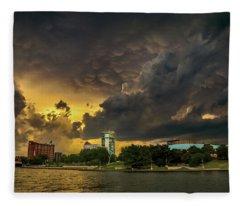 ict Storm - High Res Fleece Blanket