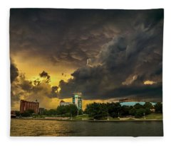 ict Storm - High Res Fleece Blanket