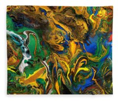 Icy Abstract 9 Fleece Blanket