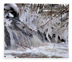 Icy Spring Fleece Blanket