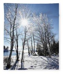 Icy Sunburst Fleece Blanket