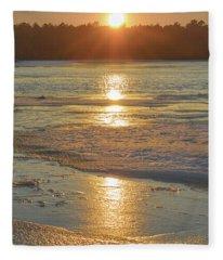 Icy Sunset Fleece Blanket
