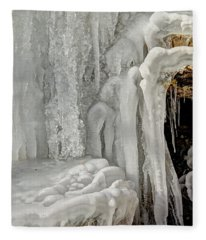 Icy Tendrils Fleece Blanket