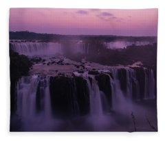 Iguazu Sunset In Violet Fleece Blanket