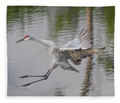 Ike The Crane's Grouchy Day Fleece Blanket